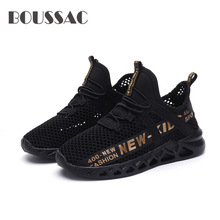 BOUSSAC 2019 childrens shoes hollow mesh boys and girls lightweight kids sneakers outdoor running loafer