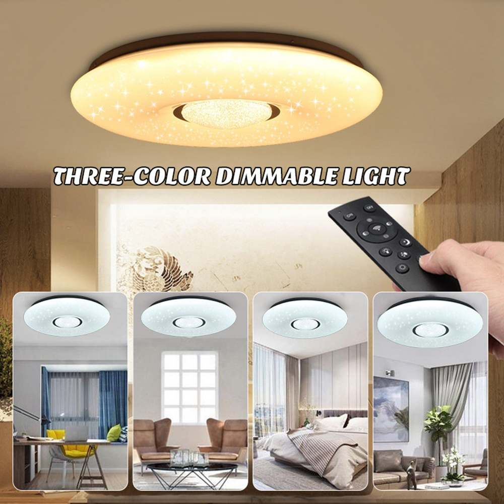 LED Ceiling Lamp 54W 36 Led Light Bulbs Starlight Stars Sky 3-color Dimmable With Remote Control IP44 2835SMD 180V-240V