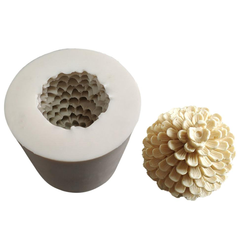 1 Piece Pine Cones Shape Sugarcraft Silicone Mold Fondant Mold Cake Decorating Tools Chocolate 3D Candle Silicone Mold
