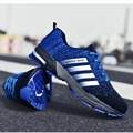 Lightweight and Low-cut Keep Running Sports Shoes Popcorn Rubber Sole Man Sneakers Flying Woven Breathable Men's Casual Shoes