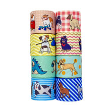 Корсажная лента для домашних животных 38 мм с рисунком собаки