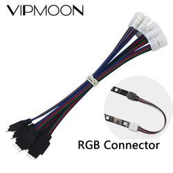 5 шт. 15 см 4 Pin 4pin 5050 3528 светодиодный RGB ленты Удлинительный провод Соединительный кабель провод светодиодный удлинитель зажимы для кабелей и ...