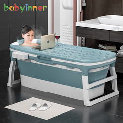 Складная ванночка Babyinner, большая, толстая, для душа, многофункциональная, стабильная, нескользящая