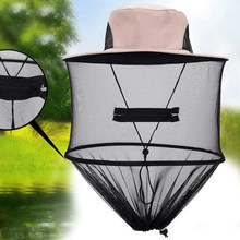 A0NIJIE Insect Bugs Mosquito Proof Beathable Outdoor Netto Vissen Hoed Mesh Ontwerp Opvouwbare Fisher Cap(China)