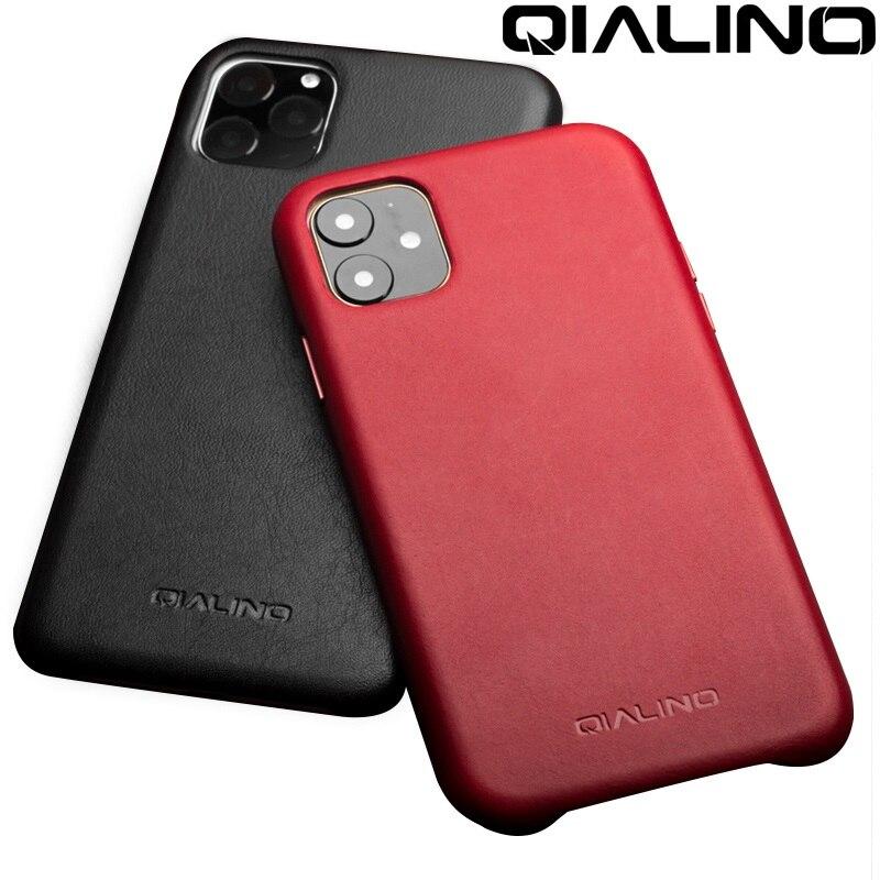 QIALINO из натуральной кожи чехол для телефона для iPhone 11Pro Макс анти осень модная обувь класса люкс ручной ультра тонкая задняя крышка для iPhone11