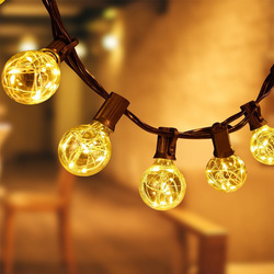 CF Grow Waterproof String Light with 25pcs G40 Copper Wire Led Bulbs Fairy Decorative Lights for Holiday Garden Yard Party Home