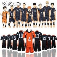 Haikyuu تأثيري Karasuno زي المدرسة الثانوية للكرة الطائرة نادي هيناتا Shoyo ملابس رياضية جيرسي موحدة
