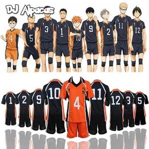 Image 1 - Haikyuu تأثيري Karasuno زي المدرسة الثانوية للكرة الطائرة نادي هيناتا Shoyo ملابس رياضية جيرسي موحدة