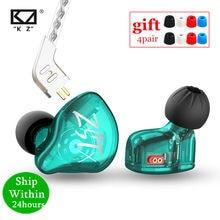 Kz zst x 1ba + 1dd unidade híbrida in-ear fones de ouvido de alta fidelidade baixo esportes dj earbud fone de ouvido com prata-banhado a cabo fones de ouvido kz zstx zsn
