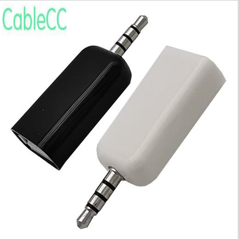 DC 3.5mm Male Audio Jack To USB 2.0 Type A Female Converter Adapter Cable HOT Cable Plug, Car MP3