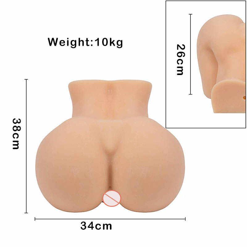 Mainan Seks Pria 10Kg Silikon Pantat Besar 3d Boneka Seks Vagina Buatan Double Channel Mainan Seks Pria Masturbasi seks Pria