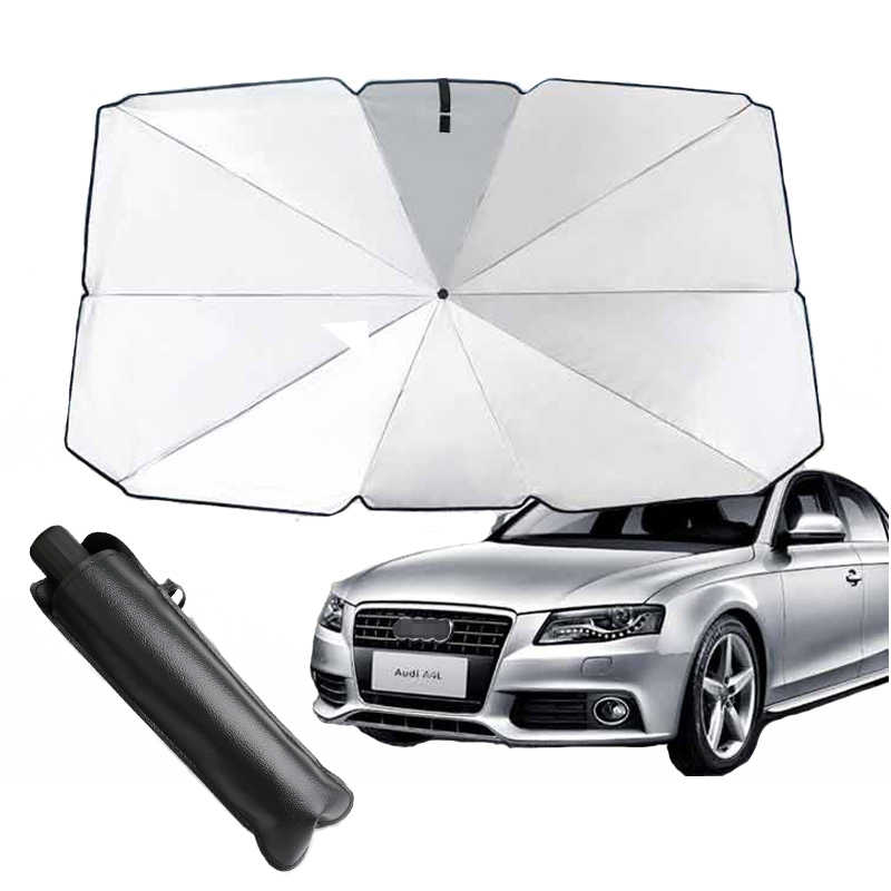 Car Windshield Sun Shade Umbrella,Easy Foldable Car Front Window Sunshade Sun Visor Protector Blocks UV Rays Keep Vehicle Cool and Protects Auto Interior/for Most Sedans SUV Truck S 49.5x25.5in