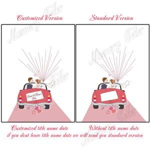 Image 3 - Arbre dempreinte digitale de mariage, personnalisé avec nom et Date, livre dor en toile, bricolage, décoration de réception de mariage, tampon dencre inclus