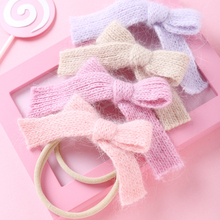 Headband Hair-Accessories Nylon Candy-Color Baby-Girl Elastic Bow-Not Children 1pcs