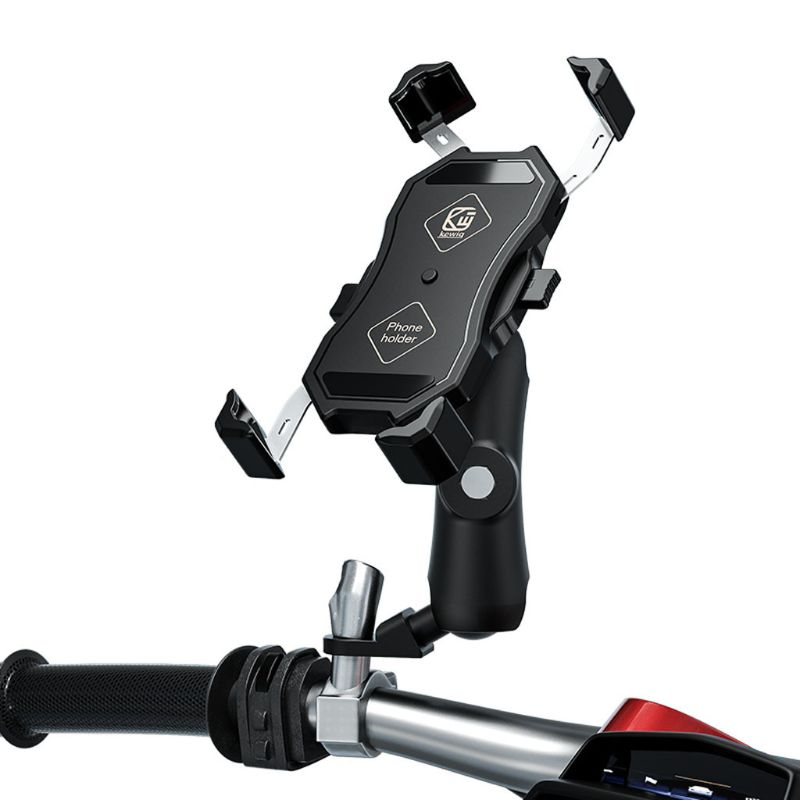 360° Bike Motorcycle Mobile Phone Holder Cradle Clamp Mount for 4-6.5\