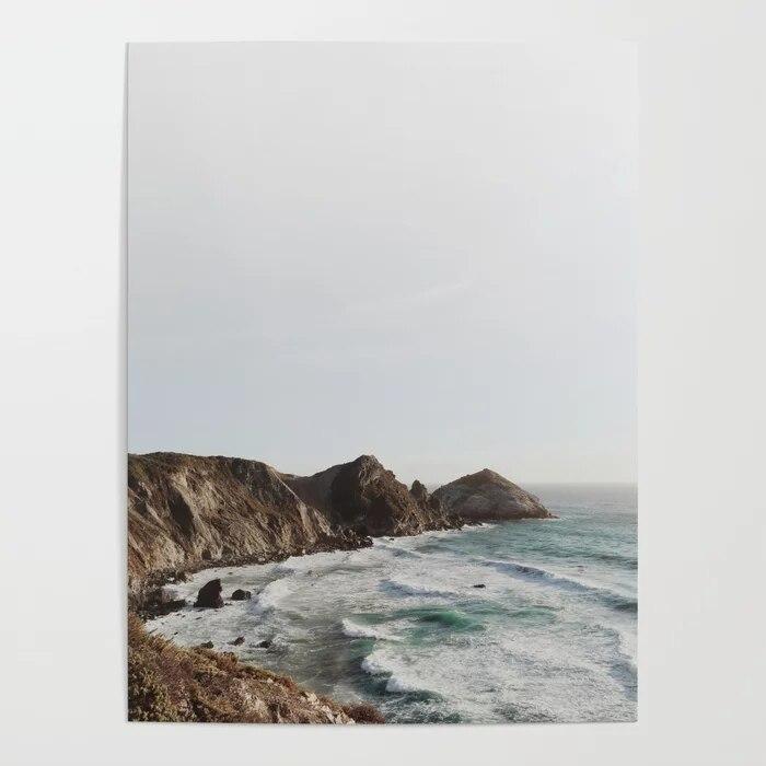 Affiche dart mural avec impression HD, décoration de maison, grande vue Sur leau et la mer, toile, belles peintures pour cadre de salon