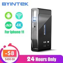 BYINTEK UFO R15 300 дюймов Смарт Android wifi видео светодиодный портативный мини DLP 3D проектор для Iphone 11 Full HD 1080P домашний кинотеатр 4K