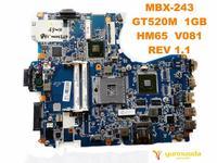 Orijinal SONY MBX-243 laptop anakart MBX-243 GT520M 1GB HM65 V081 REV 1.1 iyi ücretsiz gönderim test