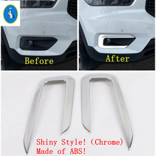 Yimaautotrims Auto Accessory Front Fog Lights Lamp Eyelid Eyebrow Overlay Strip Cover Trim Fit For VOLVO XC40 2018 2019 2020 ABS yimaautotrims auto accessory front fog lights lamp eyelid eyebrow cover trim fit for ford mondeo fusion 2017 2018