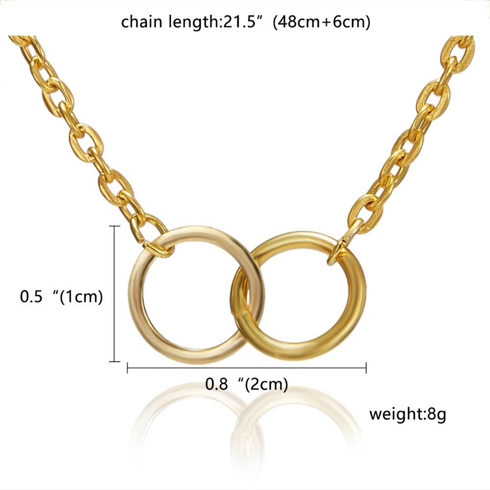 Rinhoo Karma, Двойная Цепочка, круглое ожерелье, золотое ожерелье с подвеской, модные цепочки на ключицы, массивное ожерелье, Женские Ювелирные изделия - Окраска металла: 13