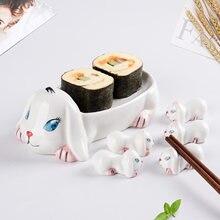 6 шт животных Форма Керамика держатель палочек для еды в виде