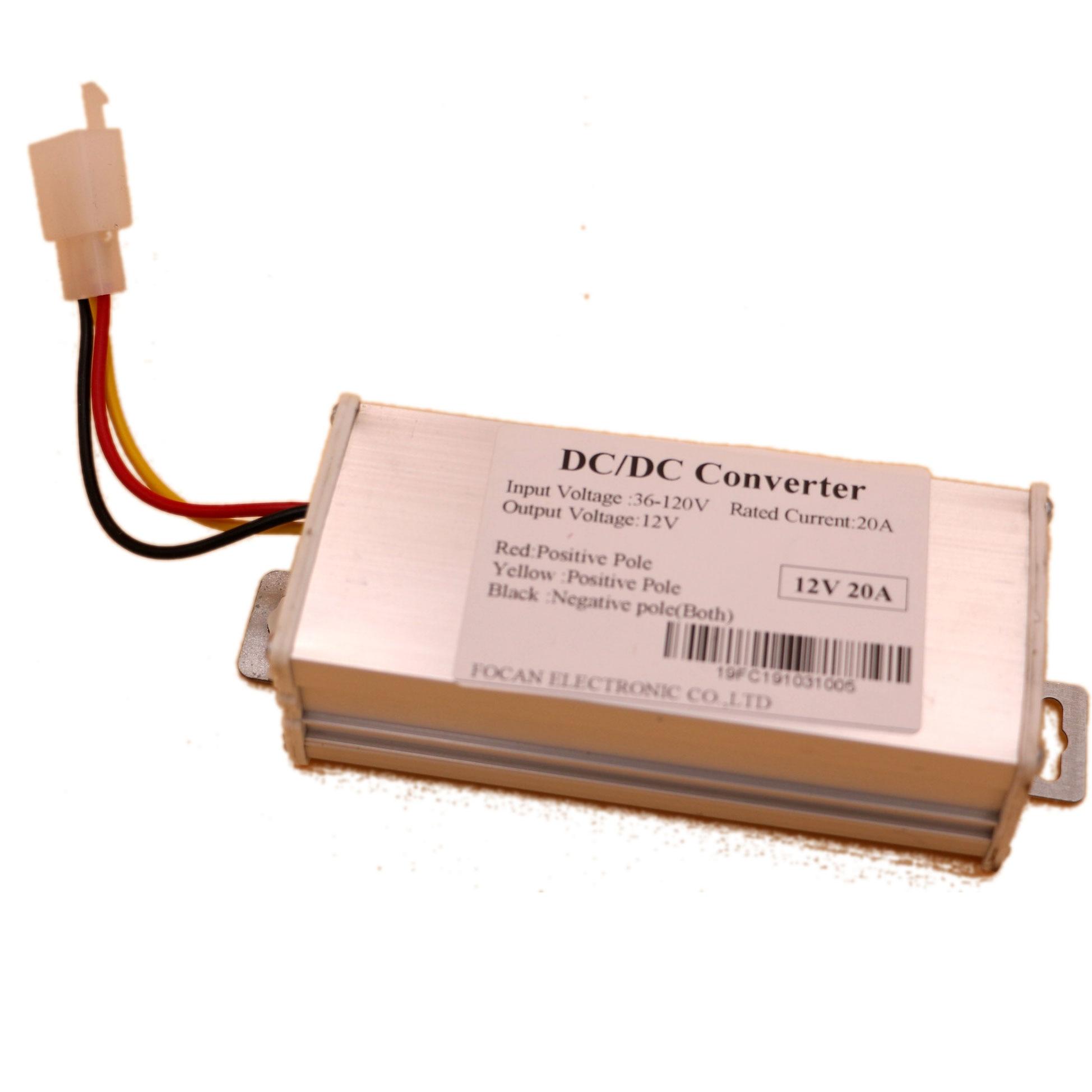 36V/48V/60V/72V/80v/96V/120V To 12V 20A DC/DC Converter For Electric Car /Vehicle Battery