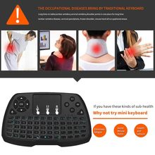 Mini Keyboard Nirkabel 2.4G Hz Portable Handheld High Sensitif Smart Touchpad Keyboard Udara Mouse untuk Android Smart TV Box(China)