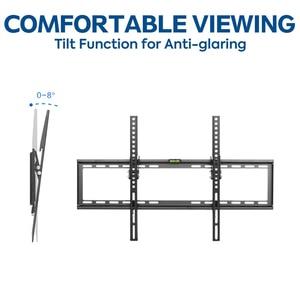 Image 3 - Suporte de montagem de parede para tv, suporte para a maioria 37 70 polegadas, led, lcd, tela plana de baixo perfil, até cabo hdmi vesa 600x400 inclui