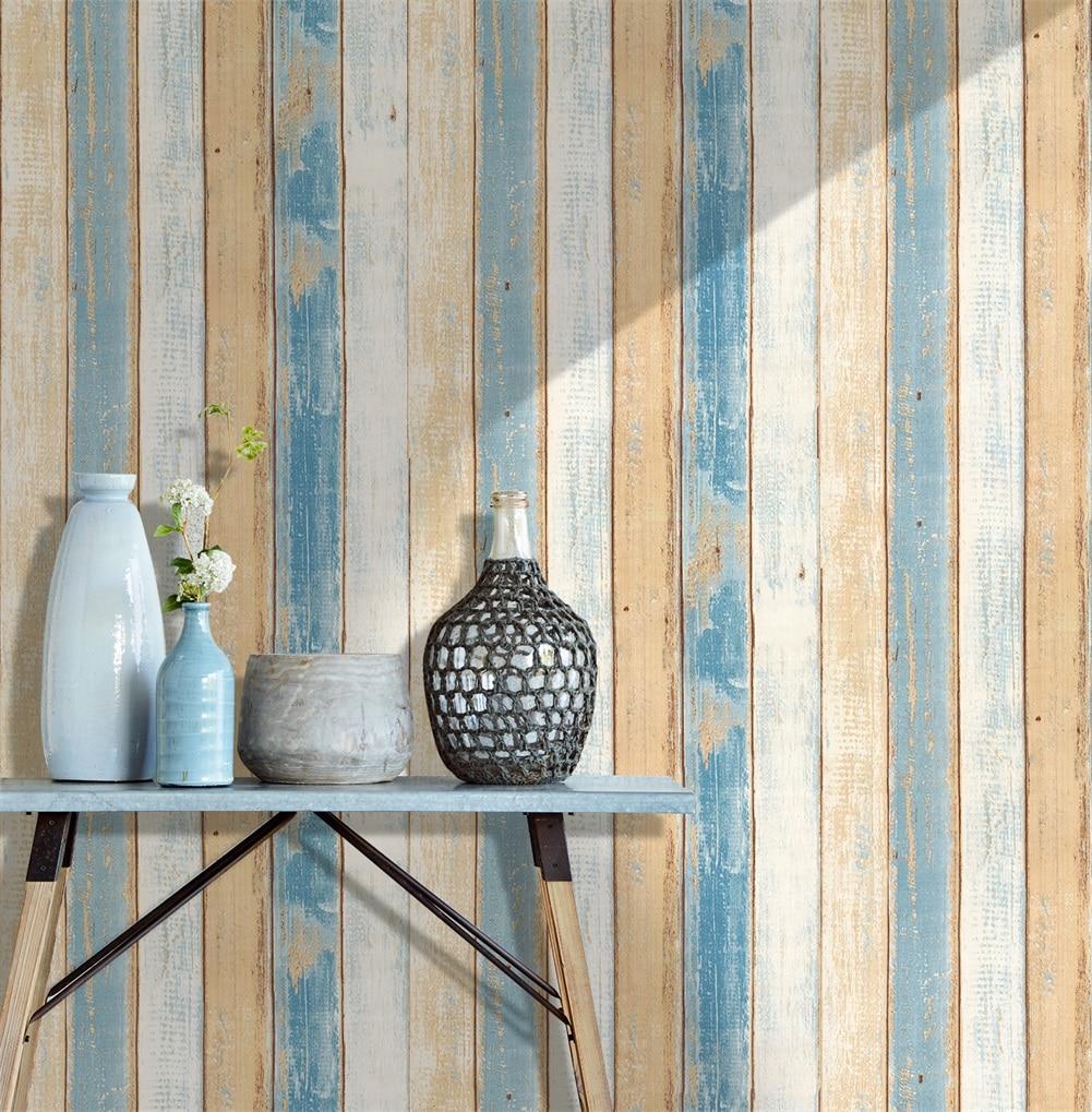 0.45*6 m/rolo de madeira do vintage 3d auto adesivo papel parede para paredes rolos mural contato sala cozinha banheiro decoração da sua casa