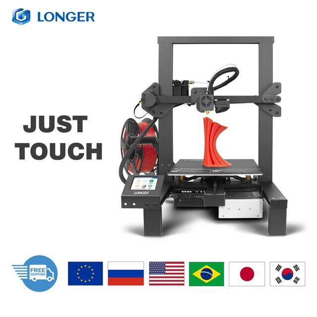 Imprimante 3D LONGER LK4 avec écran tactile reprenant limpression détecteur de Filament nouvelle conception de cadre Kit dimprimante 3D Open Source 3d printer stampante 3d 3d printer kit