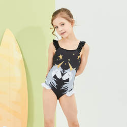 Новинка 2019 года; Лидер продаж; купальный костюм в европейском и американском стиле; милый детский купальный костюм с воланами и единорогом