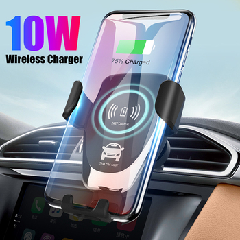 QI 10W 7.5W 5W Car Wireless Charger Gravity Car Phone Holder Wireless Charging Auto Bracket for iPhone 12 11 X Xiaomi 8 9 10 LG image