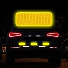 Автомобильный Светоотражающий логотип Предупреждение ленты бампер автомобиля со светоотражающими элементами безопасности отражающие наклейки Наклейка для автомобиля