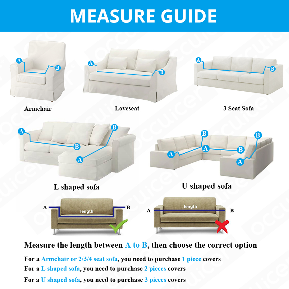 Wrinkle Free Couch Cover with Elastic and Straps for Sofa in Living Room Made of High Quality Spandex Material 1