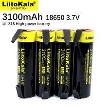 LiitoKala – batteries Li-ion 18650, 3.7V/4.2V, 3100mA, 35a, pour appareils à forte consommation d'énergie, 1 à 20 pièces, nickel à monter soi-même