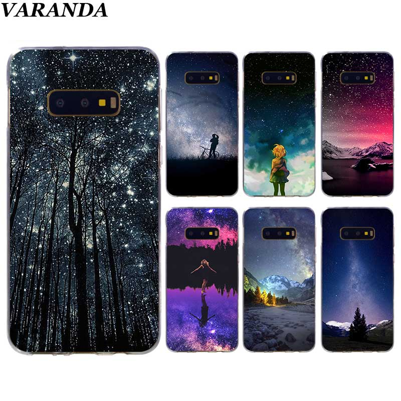 Starry Sky Case for Samsung Galaxy S10 5G S10e S8 S9 Plus S7 Edge Note 10 8 9 Silicone Cover Phone Coque