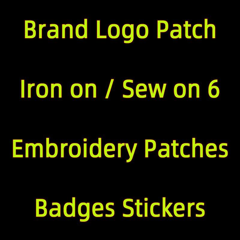 Роскошные брендовые маленькие вышитые нашивки с логотипом для одежды, Аппликации «сделай сам», термоклейкие нашивки с буквами, полоски для ...