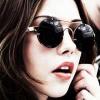 Steampunk Metal Frame Round Sunglasses Women Luxury 2020 Retro Fashion Mirror Sunglasses Brand Designer UV400