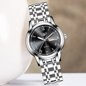 Image 3 - LIGE Fashion Women Watches Ladies Top Brand Luxury Stainless Steel Calendar Sport Quartz Watch Women Waterproof Bracelet Watch