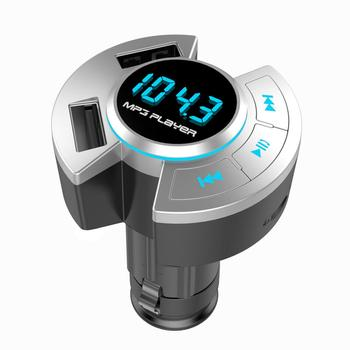 BT17 Multifunctional USB Car Charger FM Transmitter Bluetooth 5.0 MP3 Player image