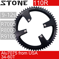 Stone Round Chainring 110 BCD for Shimano R7000 R8000 R9100 Aero 110 bcd 34t 36 38 42T 44 46T 48 50T 54 56 58T 60 Road Bike 12s