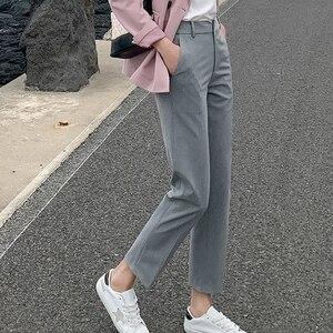 Image 5 - BGTEEVER OL Style Women Pants Plus Size Casual Pencil Pant High Waist Elegant Work Trousers Female Suit Pant pantalon femme 2019