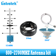 عدة هوائي خارجية من lintratek طراز 12dBi gsm 2g 3g 4g yagi لتكبير الإشارة مكرر 4g LTE GSM 900 1800 2100 2 مكبر للصوت الخلوي