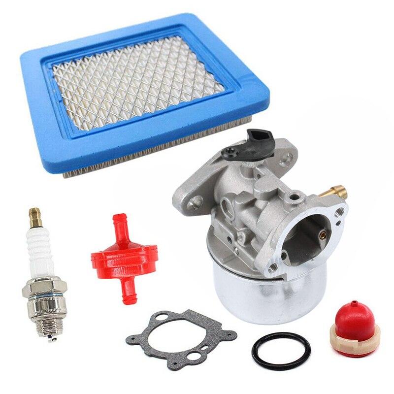 For Troy Bilt 6.5HP Carburetor Kit For Craftsman 625 Lawn Mower Outdoor Garden Spark Plug Useful