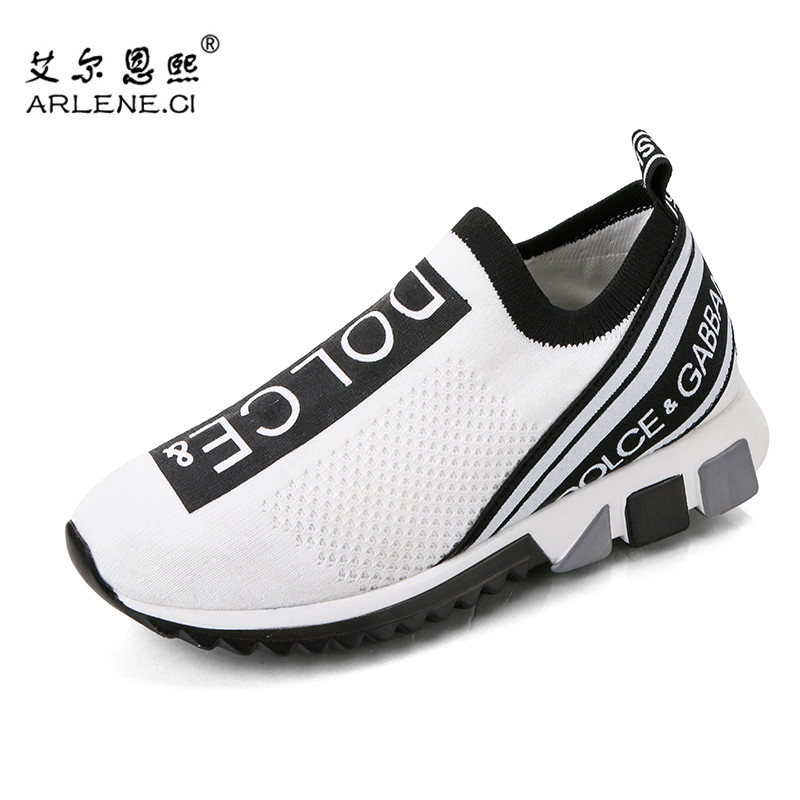 New Men Running Shoes 2020 Women Slip on Fitness Sneakers Outdoor Sport Jogging Walking Shoes Unisex Sock Shoes Chaussures Femme