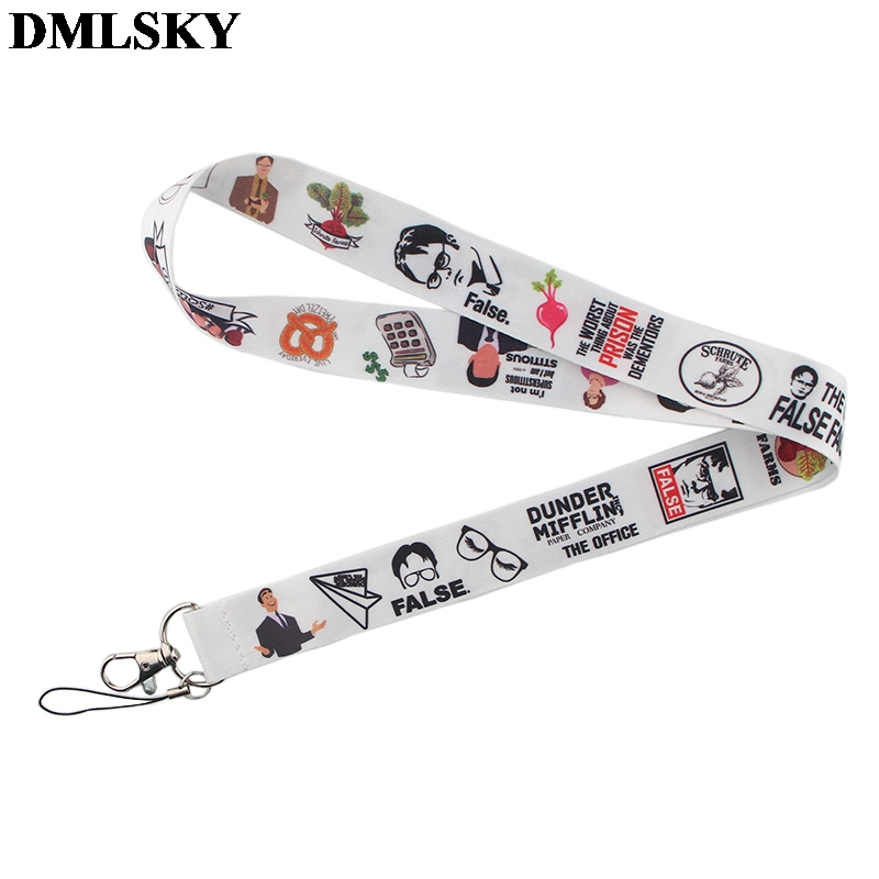DMLSKY The Office TV Show Lanyard Keychain Lanyards For Keys Badge ID Mobile Phone Rope Neck Straps Accessories Gifts M3779