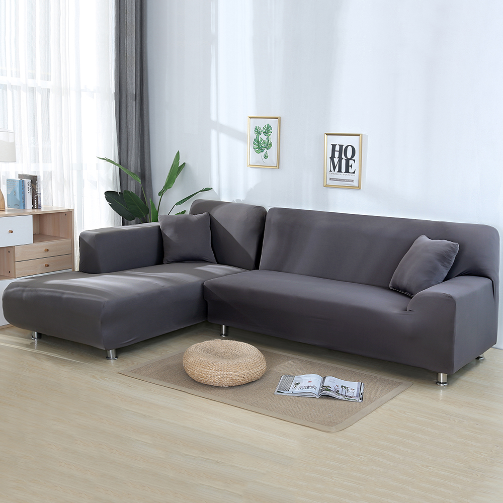 4/3/2/1 Seater L Shaped Sofa Covers Living Room Sectional Chaise Longue Spandex Armrest Slipcover Corner Sofa Covers Stretch