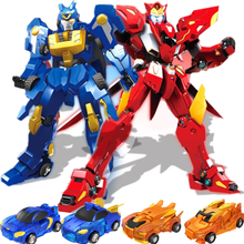 Screechers explosão velocidade combinação transformação robô colisão deformação carro mecânica besta figuras de ação crianças meninos brinquedos