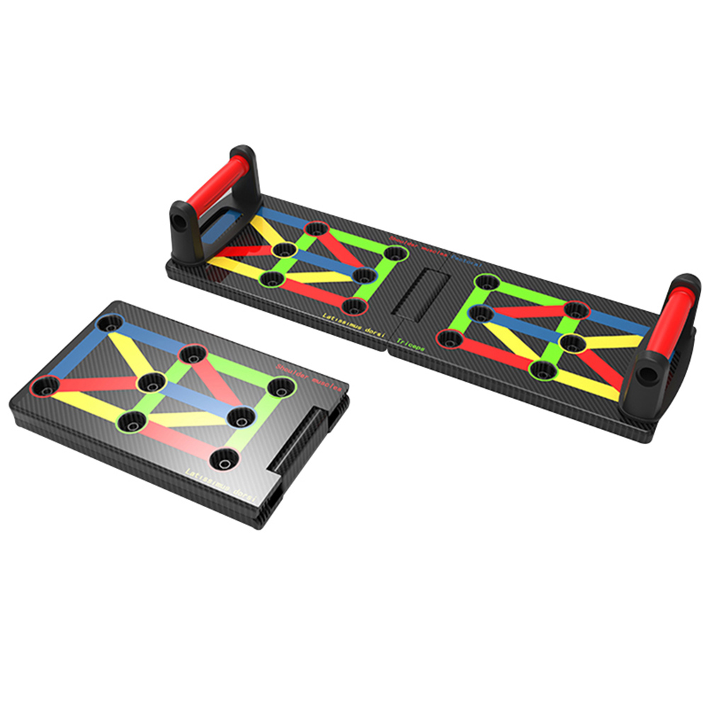 Push Up Board 17 In 1 Complete Push Up Training System Color-Coded Collapsible Push-up Bracket Board SEC88