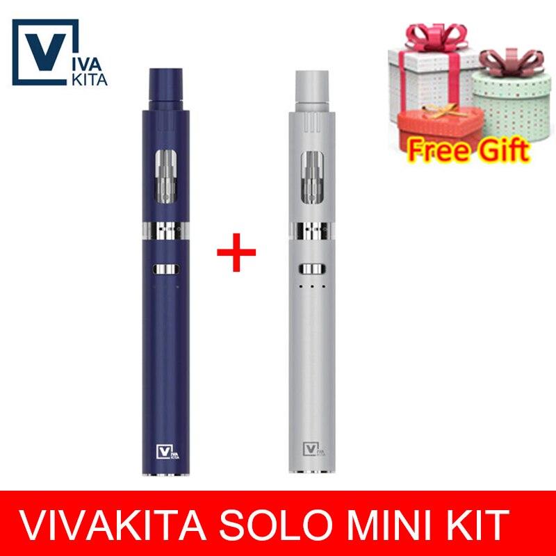 E Cigarette Vape Solo Mini Kit Vape Pen Built-in 650mah Mod 20W All-in-one Fashionable Tank 0.8ohm Leak-proof Top Filling 2.0ml